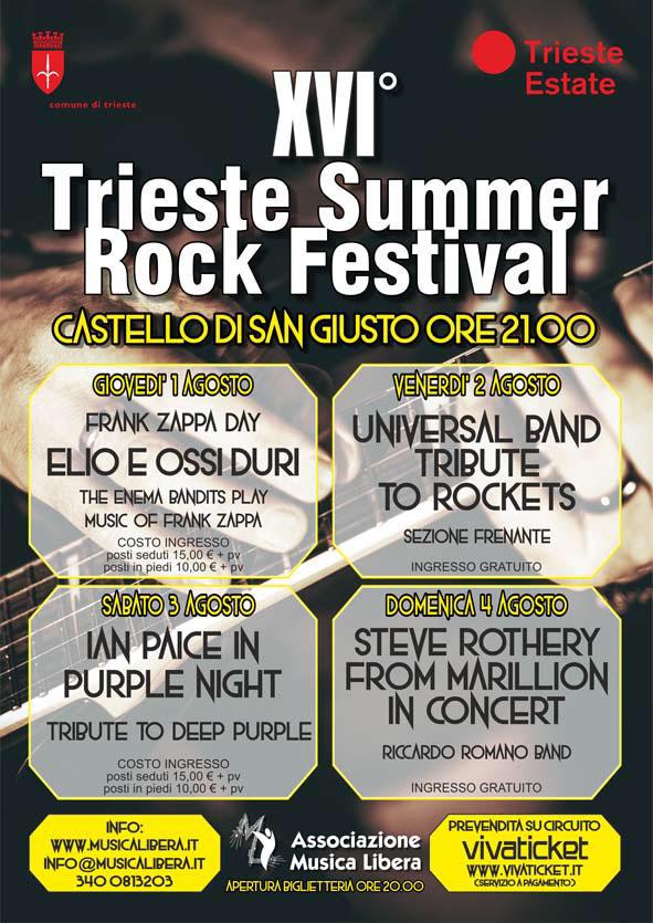 Sezione Frenante al Trieste Summer Rock Festival 02-08-19
